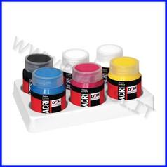 Colori acrilici acri' 6 flaconi ml.60