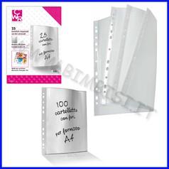 Cartelle portadocumenti fori universali spessore 50 micron 22x30 cm cf 100