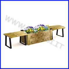 Panchina modello napoli con fioriera