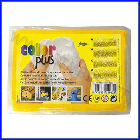 Pasta per modellare color plus giallo panetto 500gr