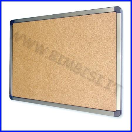 Bacheca/pannello fondo in sughero cm.90x120