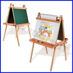 Cavalletto pittura bifacciale c/lavagna 61x70x118h