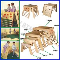 Attrezzi ginnici legno cm138x110x84h