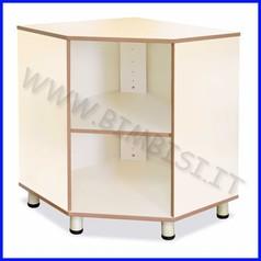 Mobile angolare accesso interno l.simply 3 vani cm.75x75x100 h