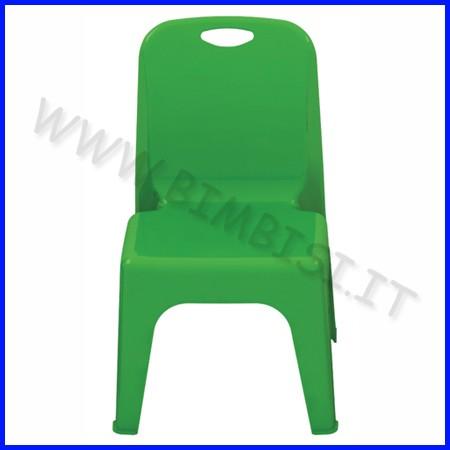 Sedia verde in acrilico cm.35x36,5x33 seduta cm.28