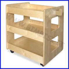 Carrello per psicomotricita' in legno
