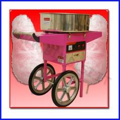 Zucchero filato con carrello