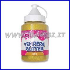 Colori a tempera glitter ad acqua oro flacone 250 ml