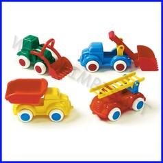 Go-go veicoli attrezzati soft 14 cm set 4 pz