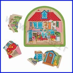 Puzzle alza e scopri cm.30x30 - la casa