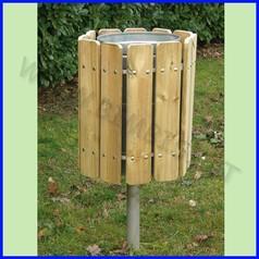 Cestino in legno capacita 70 lt