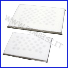 Cuscini antisoffoco/antiacaro x lettino 45x32