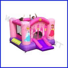 Castello gonfiabile happyhop principessa dim.cm 300x225x175