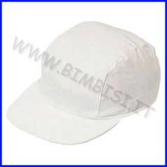 Cappellino con visiera in cotone da decorare