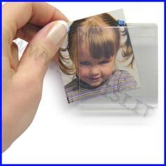 Contrassegni/portafoto adesivo rigido dim.cm 6x6