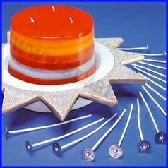 Stoppini base metallo h10cm per candele conf. 24 pz