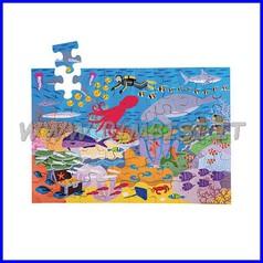 """Puzzle legno """"in fondo al mar"""" cm.27x28,5x6"""
