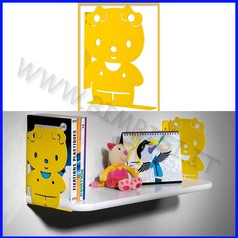 Reggimensole kitty giallo 2 pz 14x3x21cm