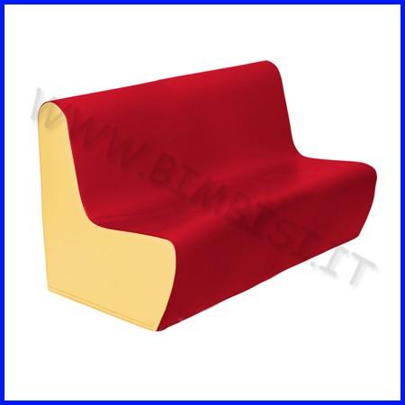 Morbidone divano nido cm.100x50x50h seduta cm.25