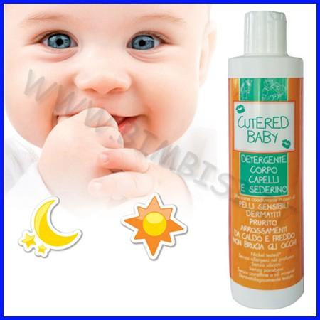 Cutered baby detergente capelli, corpo e sederino 250ml