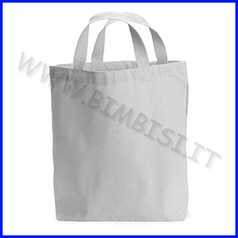Borsa in cotone da decorare cm.37x41