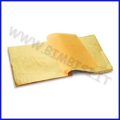 Fogli oro cm.14x14 - conf.25 fg.