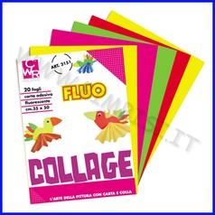 Carta fluo adesiva album 20 fogli 35x50 colori assortiti