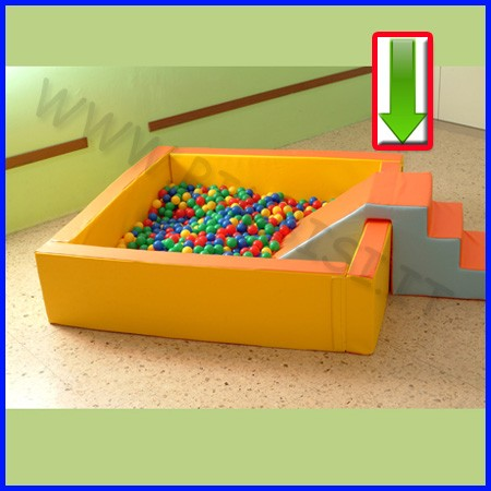Morbidone scala scivolo per piscina 135x60x62h