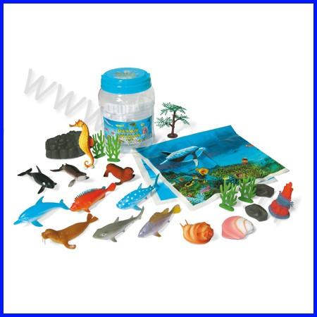 Animali oceano conf. 20 pz 3/12 cm. fino ad esaurimento