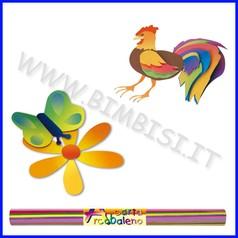 Carta arcobaleno 10 fogli cm.70x100