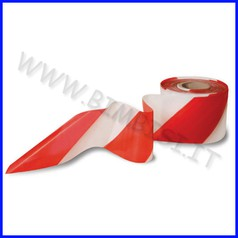 Nastro segnaletico bianco/rosso mm 70 x 200 mt