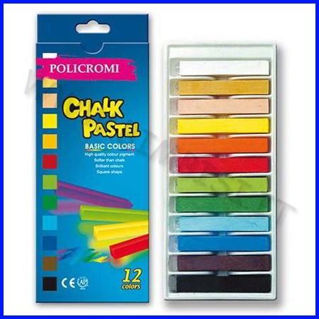 Gessi policromi - scatola 12 pz. - colori assortiti