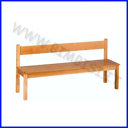 Panchetta con schienale materna in legno dim. cm 120x33x30/55