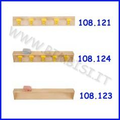 Fascia appendiabiti 5 posti 100x2x15 cm