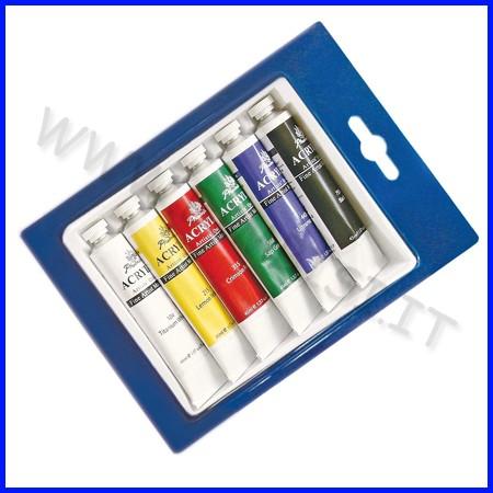 Colori acrilici 6 tubi ml.22 colori ass.