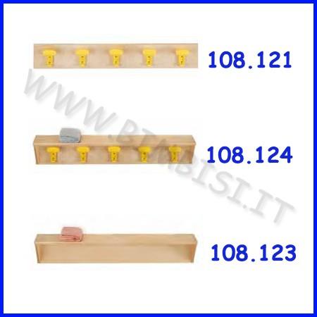 Fascia con mensola in legno 100x18x15h cm