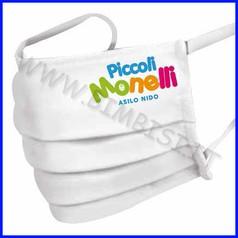 Mascherina bimbi personalizzata cotone 6-12 anni lavabile