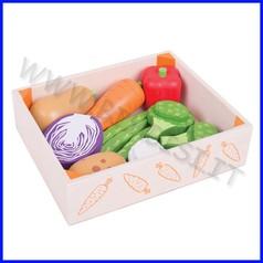 Alimenti in legno cassetta ortolano 10 pezzi