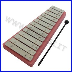 Strumenti musicali metallofono 13 toni cm. 34