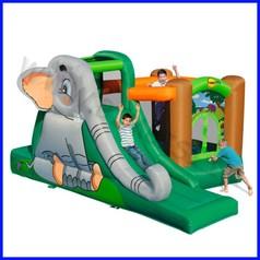 Castello gonfiabile happyhop elefantopol dim.cm 370x275x200