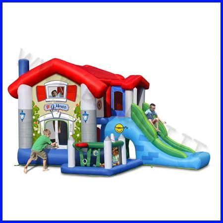 Castello gonfiabile happyhop big house dim.cm 455x330x265