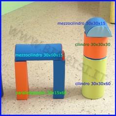 Morbidone mezzocilindro diam.30 x 60 cm