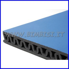Protezione murale blu lastra mt 2x1.2 cl1 doppio strato+onda