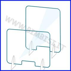 Barriera protettiva in plex verticale apertura e appoggi laterali cm 75.8x60