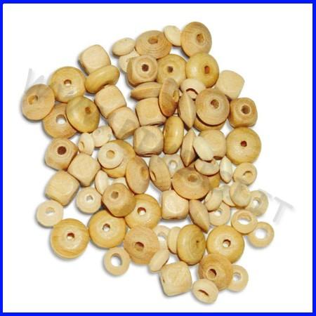 Perle in legno e micro perle busta 75pz