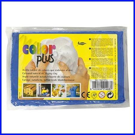 Pasta per modellare color plus blu panetto 500gr