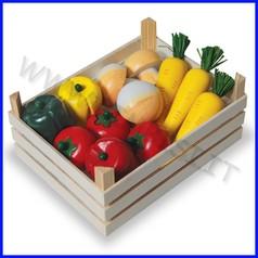 Alimenti in legno cassetta 12 verdure fino ad esaurimento