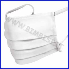 Mascherina adulto bianca cotone lavabile