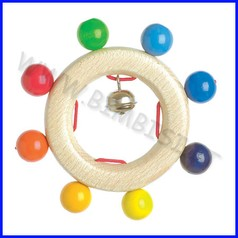 Sonaglietto con palline colorate