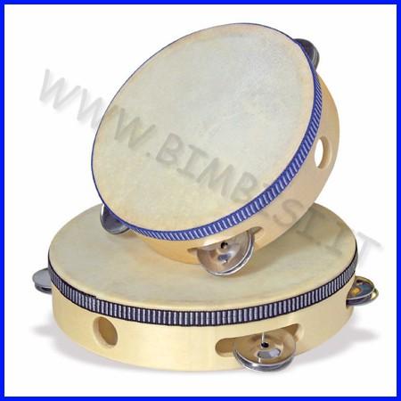 Strumenti musicali tamburello 15 cm con piattelli